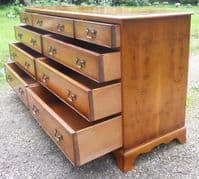 Yew Multi Drawer Long Chest of Drawers by Bradley